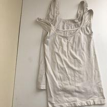 Elie Tahari Womens Tank Top Bundle Two 2 Small White Scooped Neck Stretch Cami Photo