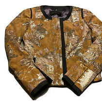 Elie Tahari Womens Blazer Jacket Floral Orange Size 0 Us Photo