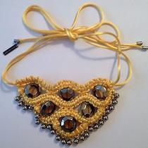 Elie Tahari  Yellow Beaded Rope Necklace Photo