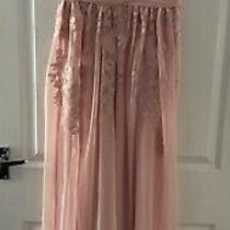 Eliza J Blush Floral Embroidered Prom Bridesmaid Dress Size 8 Photo