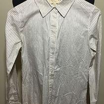 Elizabeth and James Creme Pinstripe - S - Cotton - Mother of Pearl Buttons  Photo