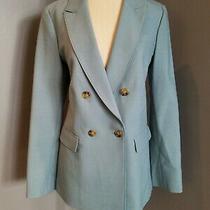 Elizabeth and James Double Breasted Blue Wool Blazer Size 10 - Nwot Photo