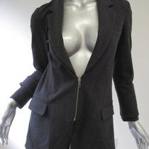 Elizabeth and James Heather Black Half Zip Blazer 6 Photo