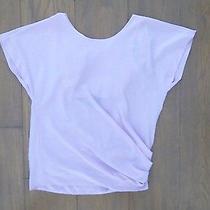 Elizabeth and James Silk Drape-Back Top Shirt Blouse Blush Neiman Marcus S 325 Photo
