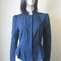 Elizabeth and James Taffeta Victorian Cropped Jacket  8 Us Photo
