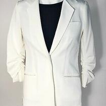 Elizabeth & James Size 6 Off White Blazer Gathered Half Sleeve - Nwt 395 Retail Photo