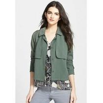 Ella Moss Candice Military Shirt Jacket Size S Layered Elm Green Nwd 198  B56 Photo