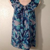 Ella Moss Cotton and Silk Fun & Flirty Floral Top Sz Xs Photo