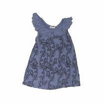 Ella Moss Girls Blue Dress 6-12 Months Photo