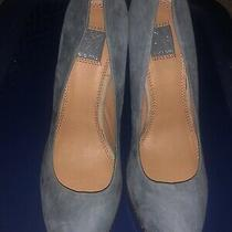 Ella Moss Gray Stacked Betty Boo Seam Heels Classic Pumps/heels/shoes Sz. 9m Photo
