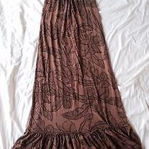 Ella Moss Maxi Halter Dress Xs Fun Photo