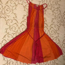 Ella Moss Orange & Pink Sun Dress W/ Rope Straps & Waist - Girls Size 12 - Nwt Photo