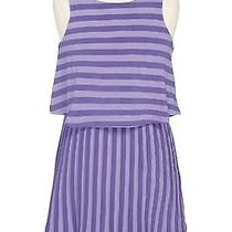 Ella Moss Stripe Sleeveless Layer Dress Purple  Size 14 (Big Girls) Nwt 62 Photo