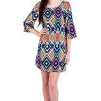 Ella Moss Totem Shift Dress in Sunset Size Small (New/authentic) Photo