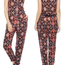 Ella Moss Tunisia Women's v-Neck Sleeveless Lace Inset Jumpsuit Size S Photo