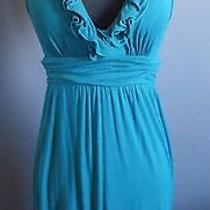 Ella Moss Turquoise Blue Vneck Dress Sz Medium Free Shipping Photo