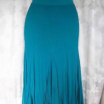 Ella Moss Turquoise Long  Trumpet Skirt Sz S  (F36) Photo