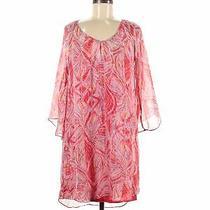 Ella Moss Women Pink Casual Dress M Photo