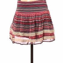 Ella Moss Women Pink Silk Skirt Xs Photo