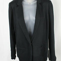 Ella Moss Women's Black Long Sleeve Side Zip Jacket Blazer Size M Photo