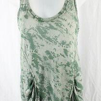 Ella Moss Women's Green Print Sleeveless Racerback Tank Top Shirt Size Xs Photo