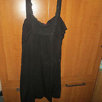 Elle Xl Women's Black Nightie With Lace Trim Photo