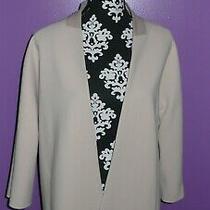 Ellen Tracy Beige Suit Open  Blazer Jacket  Beige Women Sz 8  Photo