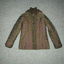Ellen Tracy Classic Winter Brown Quilted Zip Coat Jacket Women's Xsmall Photo