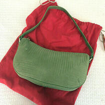 Ellen Tracy Green Suede Shoulder Bag Purse - New Never Used Photo