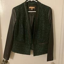 Ellen Tracy Jacket Green and Black Blazer Size 2 Photo