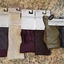 Ellen Tracy Legwear Textured Luxury Lot of 7 Trouser Socks One Size Fits All. Photo
