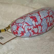 Ellen Tracy Red and Blue Sunglasses/eyeglasses Case. New. Authentic. Photo