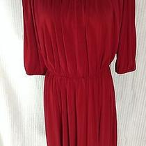 Ellen Tracy Red Dress Size 6  Photo