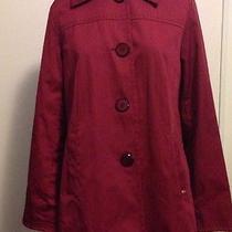 Ellen Tracy Red Water Repellent Coat M Photo