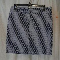 Ellen Tracy Skirt Size 6 Navy/white Photo
