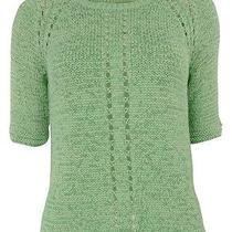 Ellen Tracy Women's Soft Focus Tape Yarn Knit Sweater (Xs Aloe) Photo