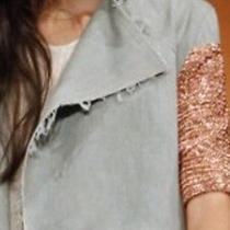 Ellery Chain Mail Denim Vest Jacket Top Size 8 Perfect Condition Vogue Australia Photo