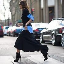 Ellery Olympia Asymmetric Flute Skirt - Black - Size 8 - Brand New Photo