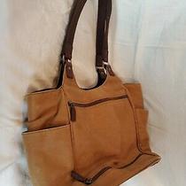 Ellington Travel/diaper Bag Hobo Shoulder Bag Tote Purse Tan Brown Canvas Photo