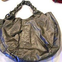 Elliott Lucca Silver Hobo Style Purse/handbag/pocketbook Photo