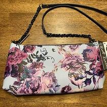 Elliott Lucca Sky Blue Floral Sz Small Artisan 3 Way Demi Clutch Crossbody Nwt Photo