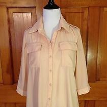Ellison Ellison Ellison Small Hi Low Blush Pink Button Blouse Womens Shirt Top S Photo