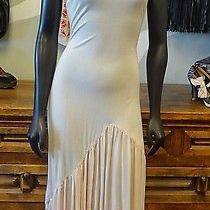 Eloise Blush Pink Raw Edge Asymmetrical Slip Dress - Medium Photo