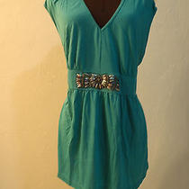 Embellished v Neck Top Xl Green Photo