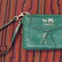 Emerald Green Coach Wristlet Photo