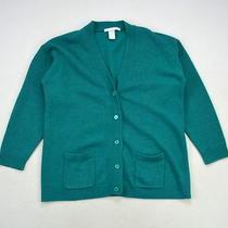 Emerald Green Wool Angora Knit the Limited Grandpa Cardigan Sweater Jacket Top M Photo