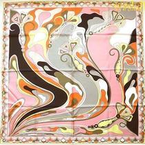 Emilio Pucci Blushlemon and Orange Orchidee Silk 34