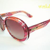 Emilio Pucci Oval Logo Pink Forresta Print Sunglasses Nwt Authentic in Case Photo