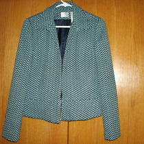 Emma James Aqua/black Zip Front Blazer/jacket Size 10 Photo
