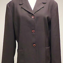 Emma James by Liz Claiborne Sz 16 Brown Fully Lined Blazer Career Photo